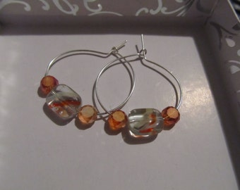 Sunny Days Glass Hoops