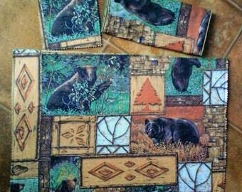 6Pc. Place mat Set (Black Bear)