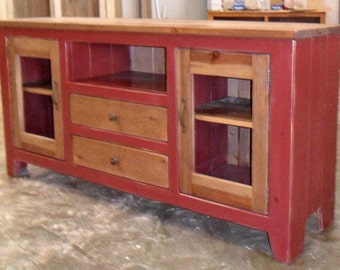 Media Cabinet, Reclaimed Wood, TV Stand, Rustic, Vintage