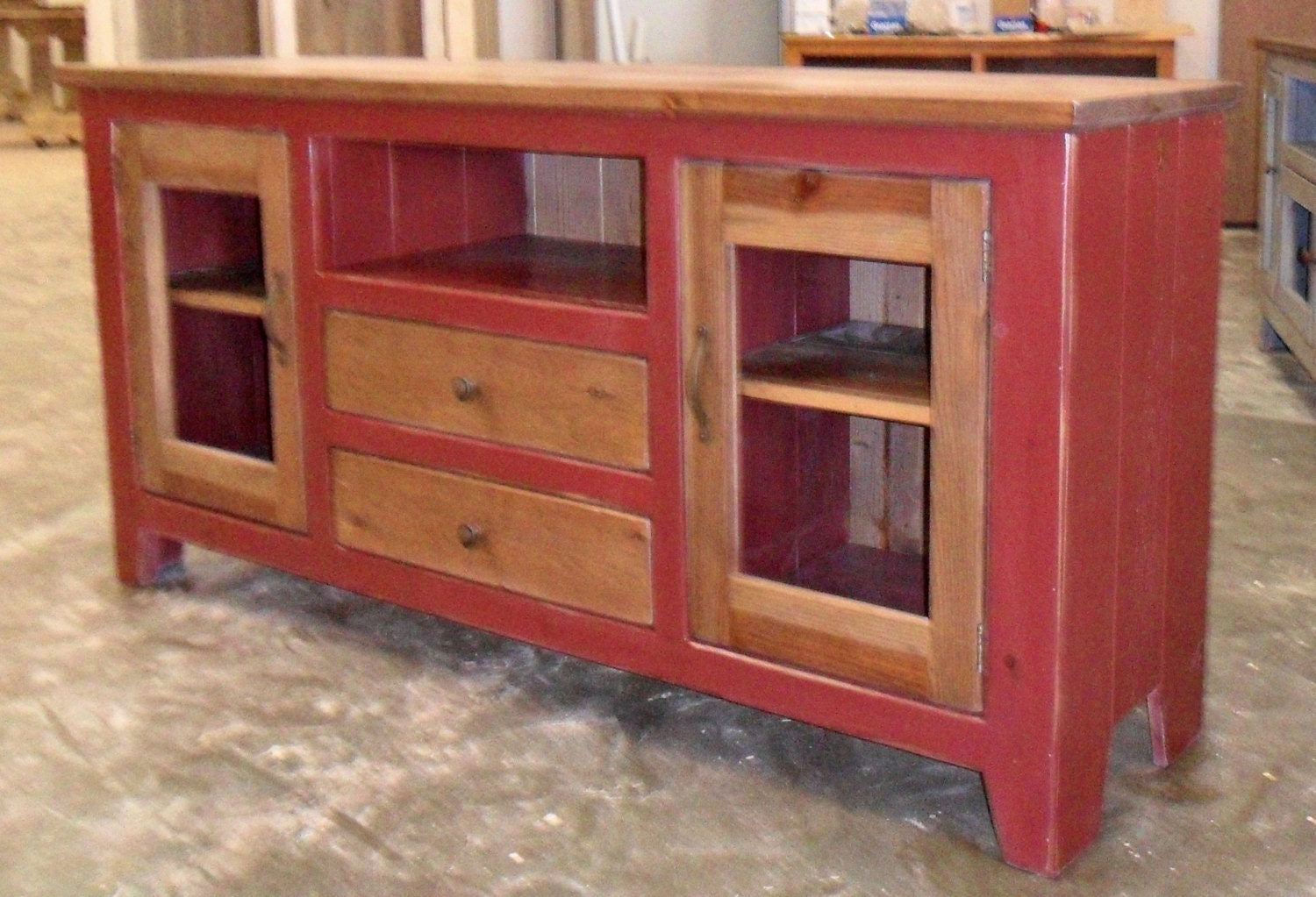 Media cabinet reclaimed wood tv stand rustic vintage zoom geotapseo Image collections