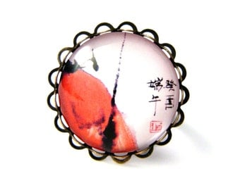 Japanese calligraphy ring