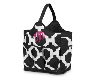 Latitude Carry-All Tote in Black (c258-1167) - Free Personalization