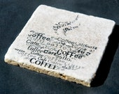 Stone Coaster Set Of 4, Coffee Lovers-Gifts