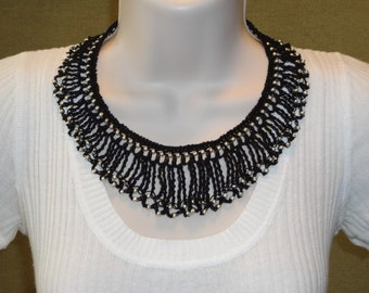 Crocheted beaded necklace