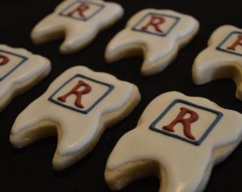 Custom Dental Monogram Cookie