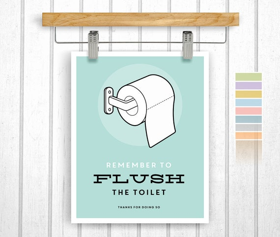 Items similar to bathroom print digital download flush for Vintage bathroom printables