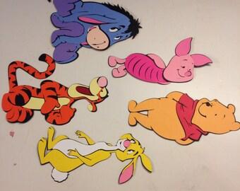 Winnie the pooh character die cuts disney
