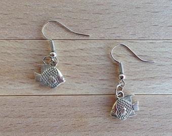 Blow Fish Earrings - Puffer Fish Earrings - Ocean Jewelry