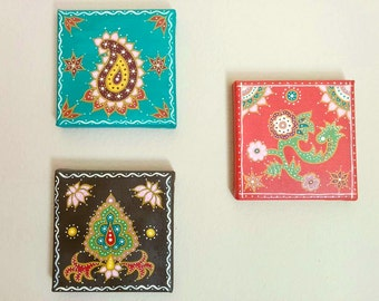 """Set of 3-12""""x12"""" Decorative Wall Paintings"""