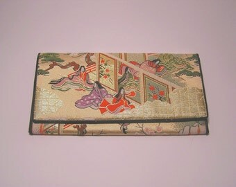 Purse Chinese Look / Vintage / 60s / Silky Embroidered