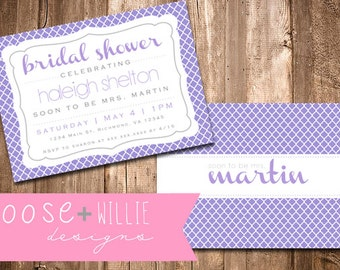 Custom Bridal Shower Invitation - Choose Colors/Personalize