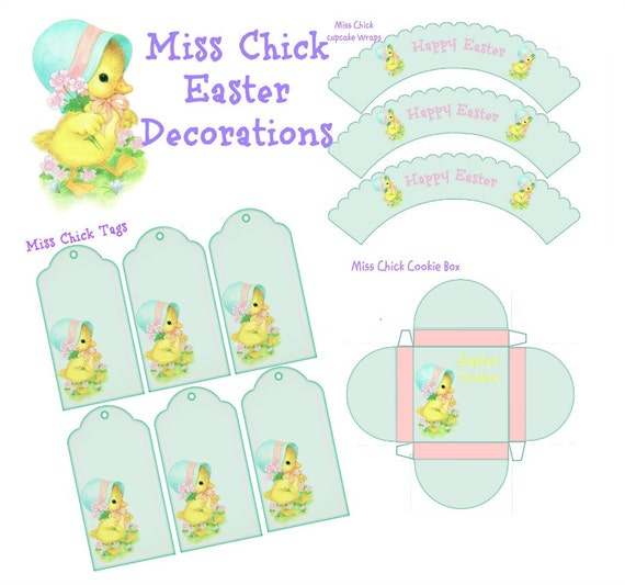 Miss Chick Easter Decorations