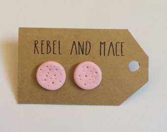 Light Pink Spotted Studs