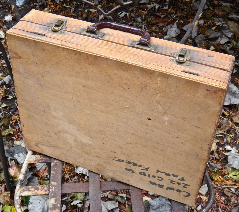 Art Case Wooden Art Supply Box Wooden Briefcase Wooden Art