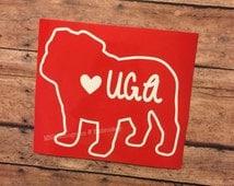 "University of Georgia ""UGA"" Bulldog Decal"