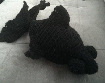 Crocheted Telescope Goldfish Toy
