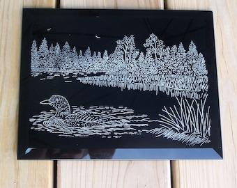 Wildlife Plaque Hand Engraved