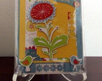 Handmade cards made from scrapbook materials