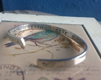 Catch A Falling Star Hand-Stamped Bracelet