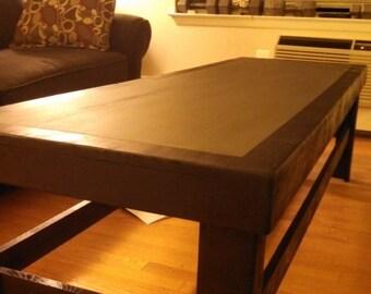 Two-tone chalkboard coffee table