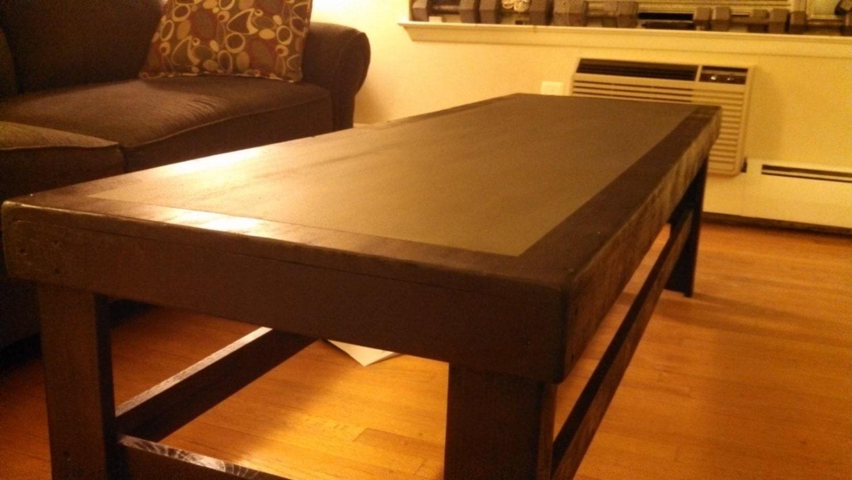 Two Tone Chalkboard Coffee Table