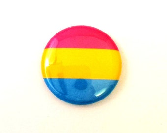 "1"" Pansexual Pride Button - Pride Magnet - Pansexual Pride Button - Pansexual Pride Magnet - LGBT Pride Button"