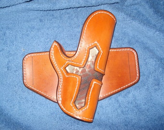 Handcrafted Leather 1911 Holster with Stingray insert