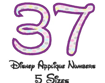 Disney Numbers applique embroidery machine (5 Sizes)