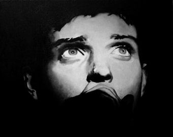 Ian Curtis Fine Art Print (Joy Division - Unknown Pleasures - Post Punk - Love Will Tear Us Apart - Music Portraits - Icons)