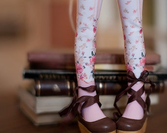 pink roses bjd stockings  MSD / SD / Blythe / tiny