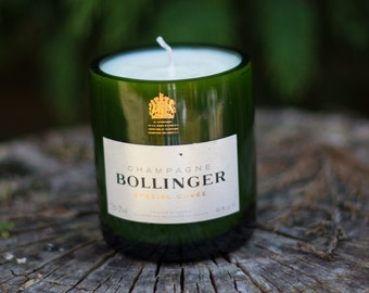 Upcycled Reborn Bollinger Champagne Bottle Candle