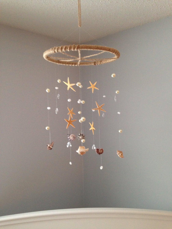 How To Make Handmade Home Decor Items Seashell Mobile Shell Mobile Starfish Mobile Pearl Mobile