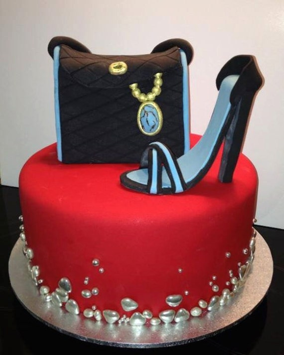 Birthday Cake Designs For A Lady : Shoe Cake Handbag Cake Women s Ladies Birthday by ...