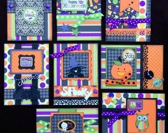 Halloween Card kit, Premade Halloween Cards, Handmade Card Kit, Handmade Halloween Card Kit, pre-made Halloween Cards