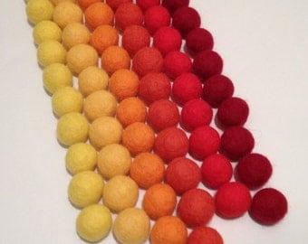 100% Wool Felt Balls.48 Wool Felt Balls - ( 20 mm) 6 Сolors Felt Balls.