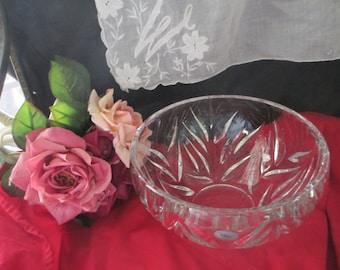 Large Vintage Gorham Crystal Glass Bowl Made in Germany
