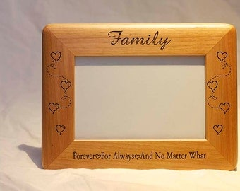 Personalized Photo Frame, Engraved Wood Frame, Family Frame, 4x6 Frame , Engraved Family Frame , Family Picture Frame