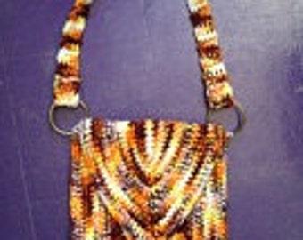 Vintage 1970's Crochet Hippie Gypsy Boho Bag Purse Pocketbook 70s