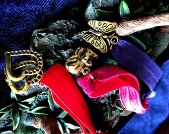 Hair ties with charms - charm hair ties