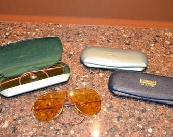 Vintage WWII Era Aviator Style Glasses: Listing is for ONE Pair of Glasses and ONE Case