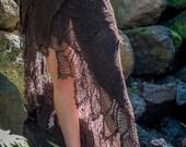 Sita Bohemian Crochet Layered Long Buckle Skirt, Free Flowing, Freesize
