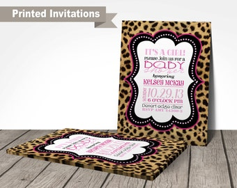baby shower invitation cheetah party customized wording cheetah baby