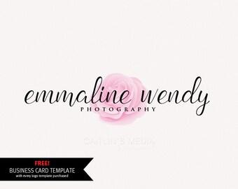 Custom Logo design - Premade logo - rose logo