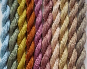 Hand Dyed Embroidery Thread Pack (10 Pack) - Vintage Collection
