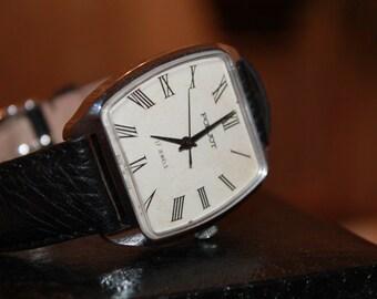 USRR watch Poljot 17 jewels Russian watch cccp Serviced Soviet watch.The First Moscow Watch Factory
