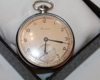 Antique pocket watch Salut Made in USSR.Soviet pocket watch SALUT 1950s.Very good vintage watch.
