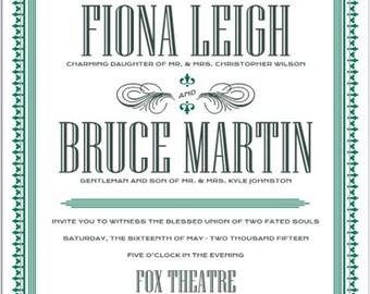 Fox Theater Wedding Invitation Collection