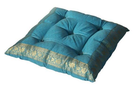 Tufted floor cushion meditation pillow floor by TaraDesignLA