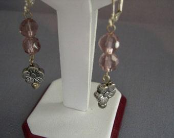 Hanging Flower Earrings ~ Handmade