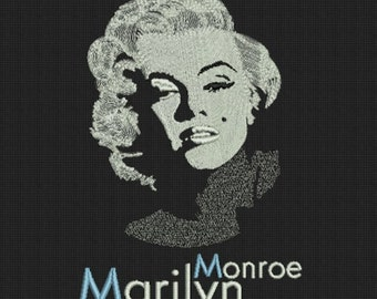 Marilyn Monro Machine Embroidery Design digital INSTANT DOWNLOAD